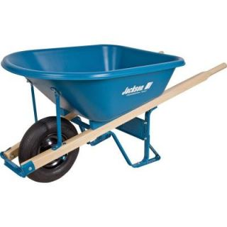 Jackson 5.75 cu. ft. Heavy Duty Corrosion Proof Poly Wheelbarrow MP575FFBB