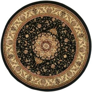 Safavieh Lyndhurst Black/Ivory 8 ft. x 8 ft. Round Area Rug LNH329A 8R