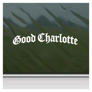 Good Charlotte White Sticker Decal Punk Band White Car Window Wall Macbook Notebook Laptop Sticker Decal   Decorative Wall Appliques