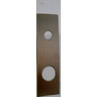 "Don Jo 514 CW 22 Gauge Stainless Steel Mortise Lock Wrap Around Plate, Satin Bronze Finish, 5"" Width x 12"" Height, For 86 Cut Out Cabinet And Furniture Hinges"