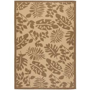 Martha Stewart Living Paradise Cream/Brown 4 ft. x 5 ft. 7 in. Indoor / Outdoor Area Rug MSR4260 12 4
