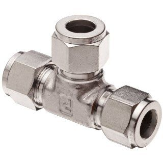 "Parker A Lok 8ET8 316 316 Stainless Steel Compression Tube Fitting, Tee, 1/2"" Tube OD"