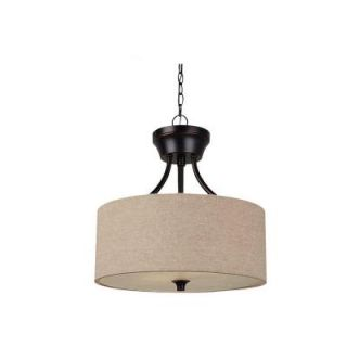 Sea Gull Lighting Stirling 2 Light Indoor Convertible Burnt Sienna Semi Flush Mount Fixture 77952 710