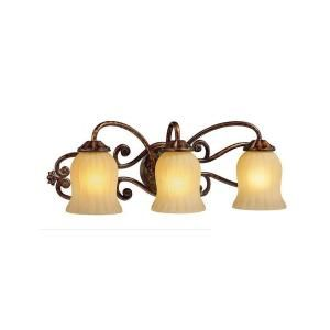 Hampton Bay Freemont Collection 3 Light Antique Bronze Wall Sconce 13382 018