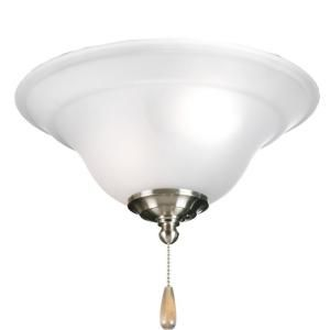 Progress Lighting Trinity Collection 3 Light Brushed Nickel Ceiling Fan Light P2628 09