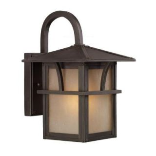 Sea Gull Lighting Medford Lakes Wall Mount 1 Light Outdoor Statuary Bronze Fixture 88880 51