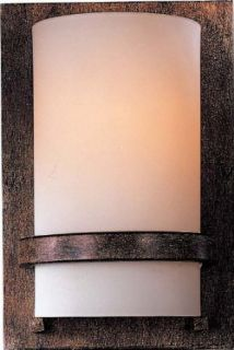 Minka Lavery 342 357, Wall Sconces Glass Wall Sconce Lighting, 1 Light, 100 Total Watts, Iron