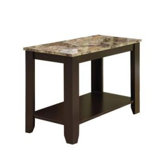 Stain Black Metal Magazine Table with Tempered Glass I 3314