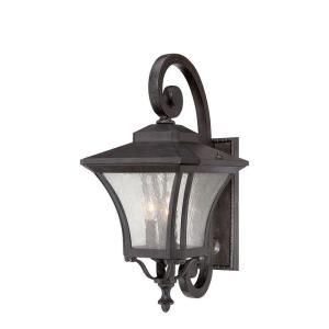 Acclaim Lighting Tuscan Collection 3 Light Outdoor Black Coral Wall Mount Light Fixture 6022BC