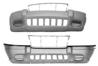 FRONT BUMPER COVER   JEEP GRAND CHEROKEE 1999  2003 LAREDO TXT DARK GRAY NO FOG Automotive
