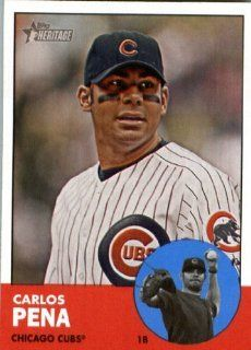 2012 Topps Heritage 380 Carlos Pena   Chicago Cubs   MLB Trading Card Sports Collectibles