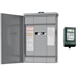Square D by Schneider Electric Homeline 125 Amp 20 Space 20 Circuit Outdoor Main Lugs Load Center with Surge Breaker SPD HOM20L125RBSB