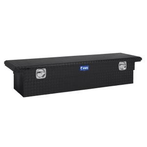 UWS 69 in. Aluminum Black Single Lid Secure Lock Crossover Tool Box with Low Profile DISCONTINUED SL 69 LP BLK
