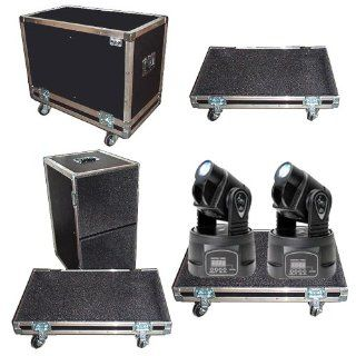 "Lighting ATA 2 in 1 Case 1/4"" Medium Duty ""Tray Style"" for Chauvet Q Spot 160 Moving Head Musical Instruments"