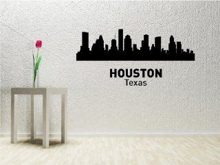 Houston city Vinyl Wall Decals Quotes Sayings Words Art Decor Lettering Vinyl Wall Art Inspirational Uplifting  Nursery Wall Decor  Baby