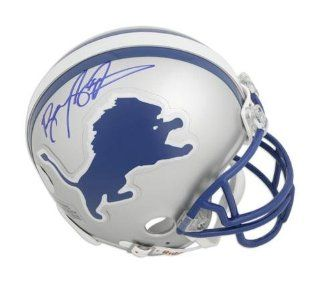 Barry Sanders Detroit Lions Autographed Replica Mini Helmet   Memories   Mounted Memories Certified Sports Collectibles