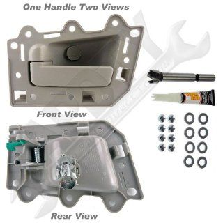 APDTY 93243 Interior Door Handle Kit(Rear, Left Side, Driver Side) All Beige, Beige Housing, Beige Lever, For The 2005 2010 Jeep Grand Cherokee (Allows Door Handle Replacement Without Replacing Door Panel)(Replaces Factory Part Number 1HR371J3AJ) Automoti