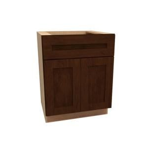 Home Decorators Collection Assembled 24x34.5x24 in. Base Cabinet with Double Doors in Franklin Manganite Glaze B24 FMG