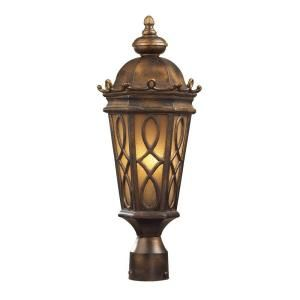 Titan Lighting Burlington Junction 2 Light Outdoor Hazelnut Bronze Post Light TN 5188