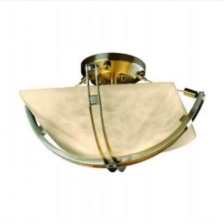 Clouds Crossbar 17 inch Nickel & Neutral Resin 2 Light Square Semi Flush Ceiling Light   Close To Ceiling Light Fixtures