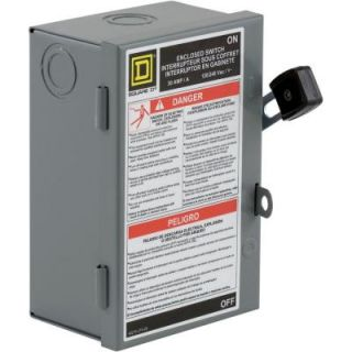 Square D by Schneider Electric 30 Amp 240 Volt Two Pole Indoor Light Duty Safety Switch with Neutral L221N