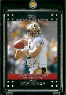 2007 Topps Football # 429 Drew Brees LL   New Orleans Saints   LEAGUE LEADERS   NFL Trading Cards