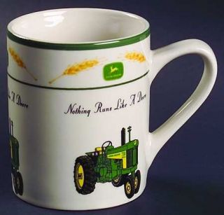 Gibson Designs John Deere Amber Waves (Rim) Mug, Fine China Dinnerware   Tractor