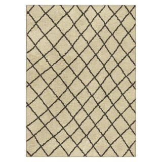 Threshold Criss Cross Fleece Area Rug   Cream (4x6)