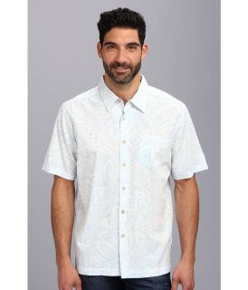 Quiksilver Waterman Verata Bay S/S Shirt Mens Short Sleeve Button Up (Blue)