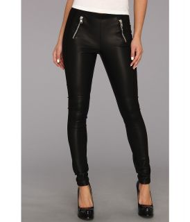 BB Dakota Drea Vegan Leather Pants Womens Casual Pants (Black)
