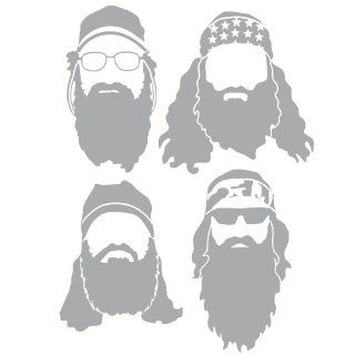Duck Dynasty Robertson's Light Gray Silhouette Car and Truck Decal   Wall Decor Stickers