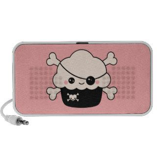 Cute Pirate Cupcake Notebook Speaker