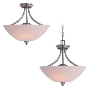 Sea Gull Lighting Stockholm 2 Light Brushed Nickel Ceiling Fixture   DISCONTINUED 77385 962