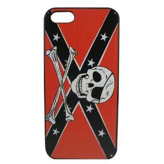 ET Skull Head Pattern Hard Back Case Protective Cover Skin for Apple iPhone 5G Color Black&Red Cell Phones & Accessories