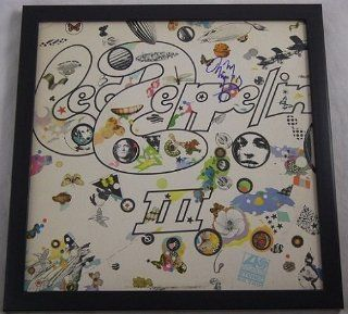 Jimmy Page Led Zeppelin III Signed Autographed Lp Record Album Vinyl Framed Loa Entertainment Collectibles