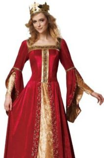 HGM International Medieval Queen Renaissance Fair Womens Halloween Costume XL Adult Sized Costumes Clothing