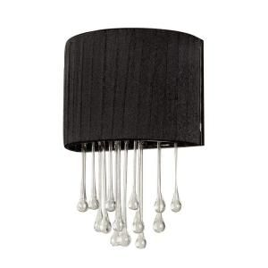Hampton Bay Penchant 1 Light Black Wall Sconce DISCONTINUED HD131445