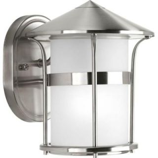 Progress Lighting Welcome Collection Wall Mount Outdoor Stainless Steel Lantern P6003 135
