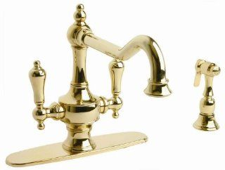 Giagni IK101MB Isonzo Two Handle Kitchen Faucet with Side Spray, Millennium Brass   Touch On Kitchen Sink Faucets