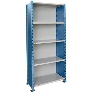 "H Post Extra Heavy Duty Closed Shelving   5 Shelves   Starter   48""W x 18""D x 87""H  Office Storage Supplies"