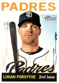 2013 Topps Heritage MLB Trading Card (In Protective Screwdown Case) # 424 Logan Forsythe San Diego Padres Sports Collectibles