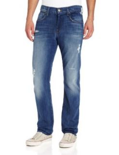 7 For All Mankind Men's The Straight Leg Jean in Pale Ale, Pale Ale, 40 at  Men�s Clothing store
