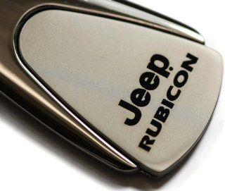 Jeep Rubicon Chrome Teardrop Key Fob Authentic Logo Key Chain Key Ring Keychain Lanyard Automotive