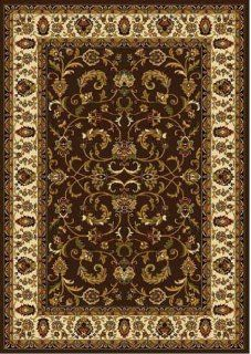 Home Dynamix Royalty 3208 511 Polypropylene 7 Feet 8 Inch by 10 Feet 4 Inch Area Rug, Brown/Ivory