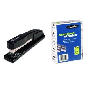 Swingline (44401A) 444 Commercial Desktop Stapler + Swingline (35101S) SF1 Standard Chisel Point Staples 1/4 inch 5 Pack  Desk Staplers