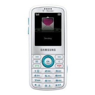 Samsung Gravity SGH T459 White/Aqua Cell Phone   Prepaid   (T Mobile) Cell Phones & Accessories