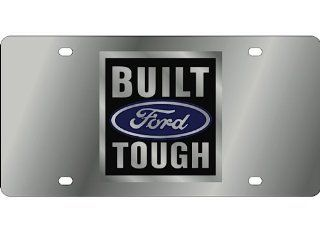Ford Built Ford Tough Stainless Steel Metal Front Vanity License Plate #446 Automotive