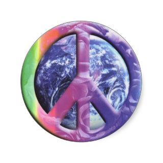 peace   earth stickers