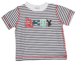 DKNY Newborn Baby Girl Original Striped Soft Jersey Tee Top T Shirt Clothing