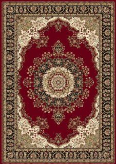 Home Dynamix Regency 8329 200 Polypropylene 7 Feet 10 Inch by 7 Feet 10 Inch Round Area Rug, Red